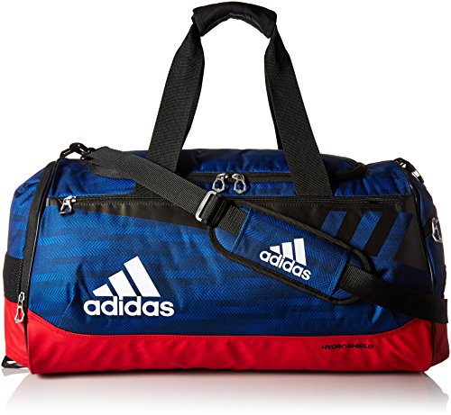 adidas Team Issue Duffel, Medium, Blue Ratio/Scarlet/Black/White