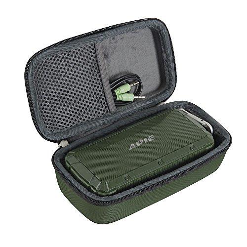 Hermitshell Hard EVA Travel Case Fits APIE Portable Wireless Outdoor Bluetooth Speaker IPX6 Waterproof Dual 10W Driversf (Green) (Apie Portable Wireless Outdoor Bluetooth Speaker Ipx6)