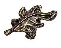 Carpe Diem Hardware 2085-3 Oak Leaf Antique Brass Oak Leaf Knob