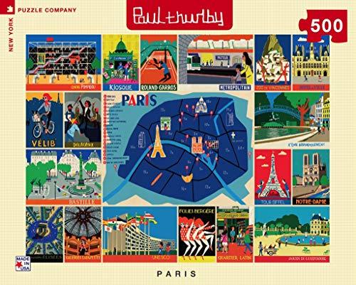 New York Puzzle Company - Paul Thurlby Paris Collage - 500 Piece Jigsaw Puzzle