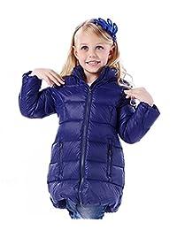 Tortor 1Bacha Kid Girls' Winter Hooded Long Down Puffer Jacket