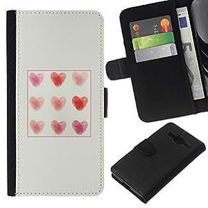 KingStore / Leather Etui en cuir / Samsung Galaxy Core Prime / Motif de Affiche d'amour