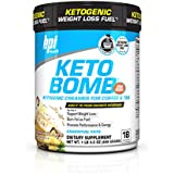 BPI Sports Keto Bomb Ketogenic Creamer for Coffee and Tea with MCT Oil, Saffron and Avocado Oil Powder to Support Weight Loss, Enhance Your Ketosis, French Vanilla Latte, 18 Servings