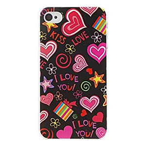 QJM Love Pattern Hard Case for iPhone 4/4S