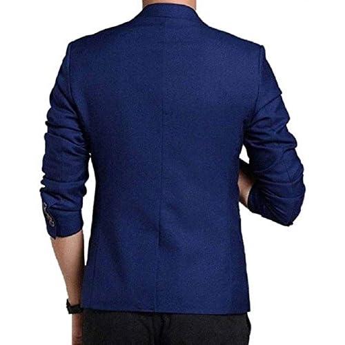 51A9WHpXFoL. SS500  - One Click Men's Royal Blue Blazer
