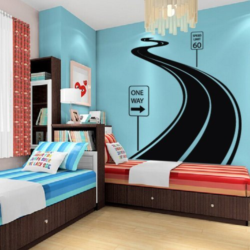 Large Wall Decal Vinyl Sticker Decals Art Decor Design Road Track Car Band Traffic Sign Nursery Kids Gift (M1424)