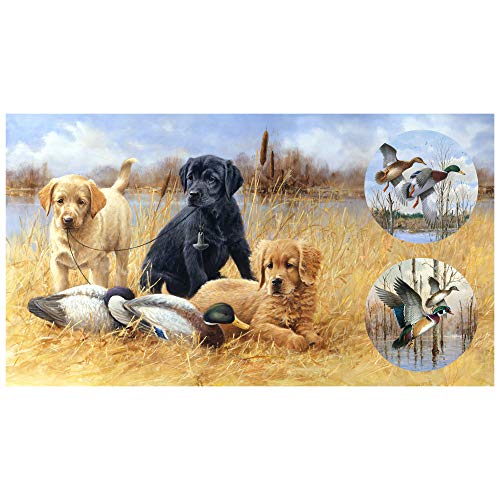 Northcott Faithful Friends Digital Hunting Dog 23'' Panel Fabric