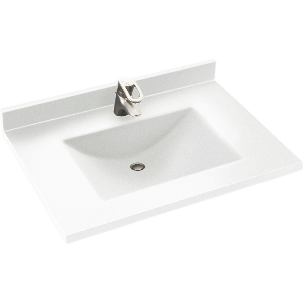 Swanstone CV2231-010 31-Inch by 22-Inch Contour Vanity Top, White Finish best