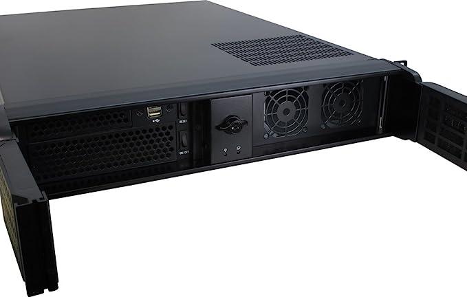 Inter-Tech IPC 2U-2098-SL Estante Negro - Caja de Ordenador (Estante, Servidor, Acero, Negro, ATX,Micro ATX,uATX,Mini-ITX, 2U): Amazon.es: Informática