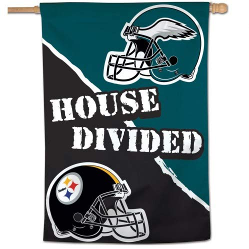 WinCraft NFL Pittsburgh Steelers Philadelphia Eagles House Divided Vertical Banner Flag 28