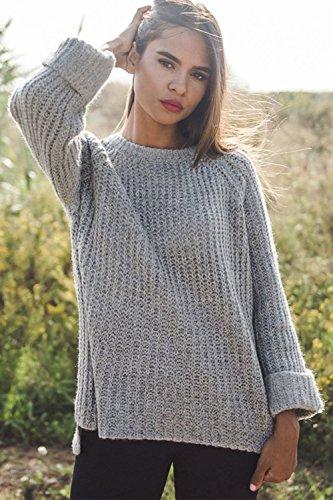 Pullover In Inverno Maglione Stweaters Sevozimda Chiarocolor Donne Le Occasionale Grigio A Twist CIOI0Xwq