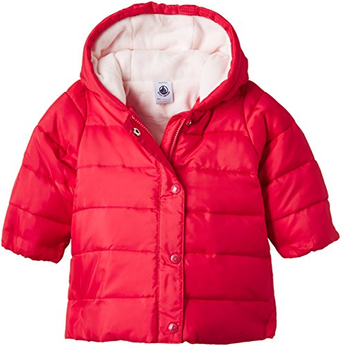Petit Bateau Baby Girls' Puffy Hooded Coat, Hot Pink, 6 Months
