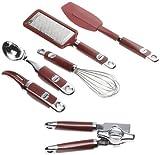 : Kitchen Aid 6-Piece Gadget Set, Red