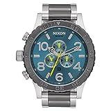 Nixon A083-2304 Mens 51-30 Silver Steel Bracelet Chronograph Watch