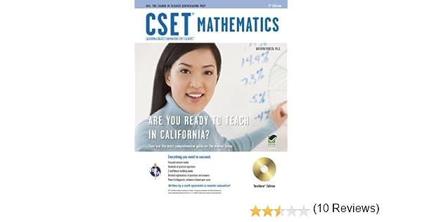CSET Mathematics Test w/ CD (CSET Teacher Certification Test Prep ...