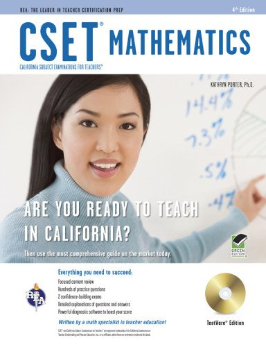 CSET Mathematics Test w/ CD (CSET Teacher Certification Test (Math Cset Test Prep)