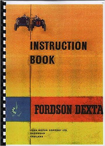 fordson dexta tractor operators instruction book plastic comb – 1957