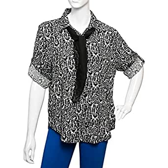 Big Dart Multi Color Viscose Shirt Neck Shirts For Women