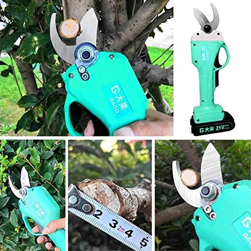 Crafting Heavy Duty. Adasea Professional 1.2 Inch 21V Cordless Electric Pruning Shears with 2 Pack Backup Rechargeable Battery Powered Garden Tree Branch Pruner Trimmer for Gardening