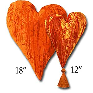 """Amazon.com: Candi Andi - 18"""" Heart Pillow - Crushed Velvet - Unscented"""