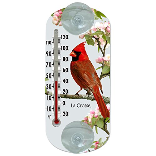 Lacrosse La Crosse 204-1081 8 Inch Traditional Thermometer with Cardinal Design, 8
