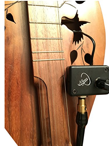 TEARDROP DULCIMER MICROPHONE with FLEXIBLE MICRO-GOOSE NECK by Myers Pickups ~ See it in ACTION! Copy and paste: myerspickups.com by Myers Pickups
