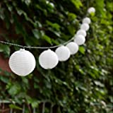 Set of 30 Mini Oriental Solar White Nylon String Lights