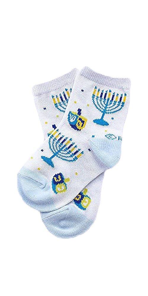 Sock Size 12-24 Mos Hanukkah Baby Dreidel And Menorah Socks