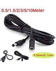 12V DC Power Supply Extension Cable 5.5mmx 2.1mm Male/Female Adapter CCTV Camera (3M)