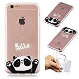 "Creative Case for iPhone 7 4.7"",Transparent Soft Clear TPU Cover for iPhone 8 4.7"",Leecase HELLO Panda Cute Pattern Flexible Protective Case Cover for iPhone 7/8 4.7"""