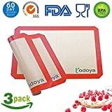 #4: Silicone Baking Mat,3 Set Non Stick Silicon Mat for Baking Sheet Cookie Macaron Bread,Silicone Baking mats Liner Professional Food Grade Cooking Mats for Oven Baking Half Sheet 16.5