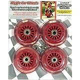 Plasma Car Polyurethane Replacement Wheels - Red