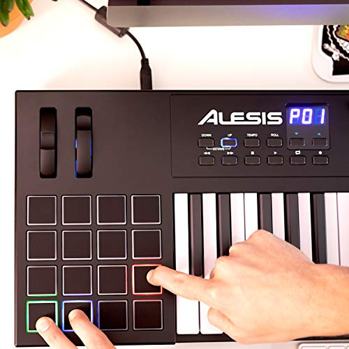 Alesis VI49 | 49-Key USB MIDI Keyboard Controller with 16 Pads, 16 Assignable Knobs, 48 Buttons and 5-Pin MIDI Out Plus…
