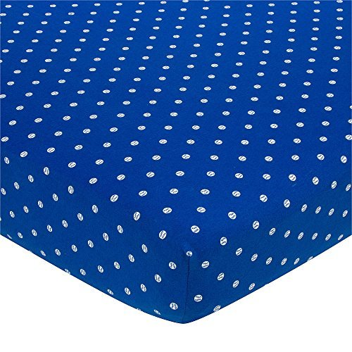 Gerber Knit Crib Sheet - Navy Baseball