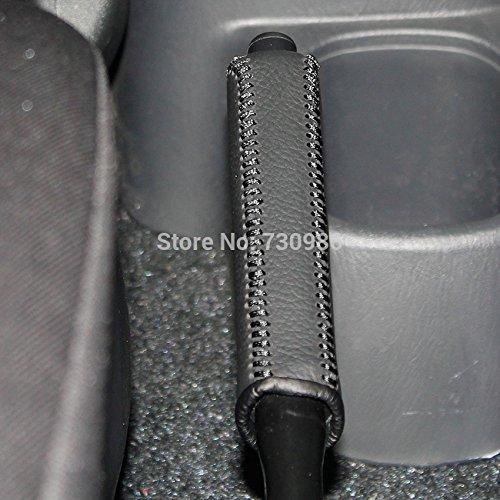 JI Loncky Black Genuine Leather Handbrake Cover for Suzuki Jimny Accessories
