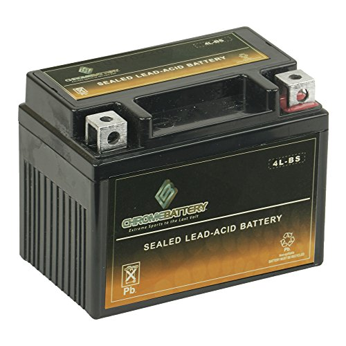Chrome Battery YTX4L-BS High Performance Power Sports Battery
