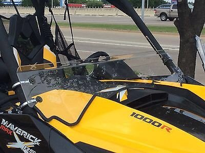 A/&S AUDIO AND SHIELD DESIGNS 2013-2018 Can Am Maverick Max 1000r 1//4 Polycarbonate Half Windshield