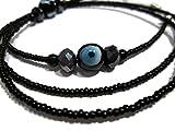 ATLanyards Black Evil Eye Beaded Eyeglass Holder- Beaded Glasses Chain