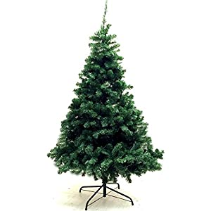 Unique Imports Xmas Finest 6' Feet Super Premium Artificial Christmas Pine Tree with Solid Metal Legs - Fullest (800 Tips) Six Foot Tall Design 71