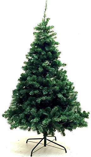 "6' Ft Premium Artificial Christmas Tree - With Bonus Metal Tree Stand 5'10"" (600 Tips)"