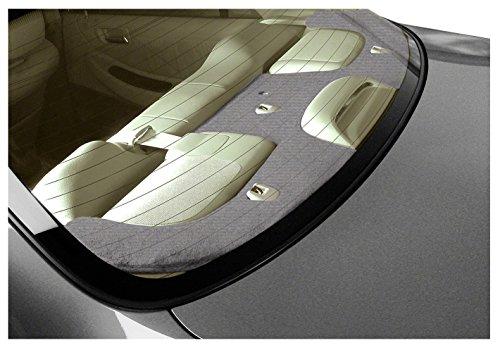 Coverking Custom Fit rear deck covers for Select Toyota Corolla Models - Velour (Gray)