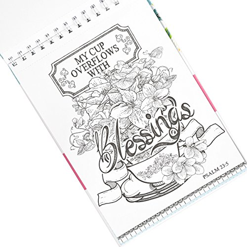 """""""The Word in Color"""": Hardcover Biblical Inspiration Adult Coloring Book"""