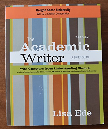 The Academic Writer, A Brief Guide, Third Edition