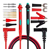 QUICATCH 16PC Micsoa Multimeter Test Leads Kit Digital Multimeter Leads with Alligator Clips Replaceable Multimeter Probes Tips Set