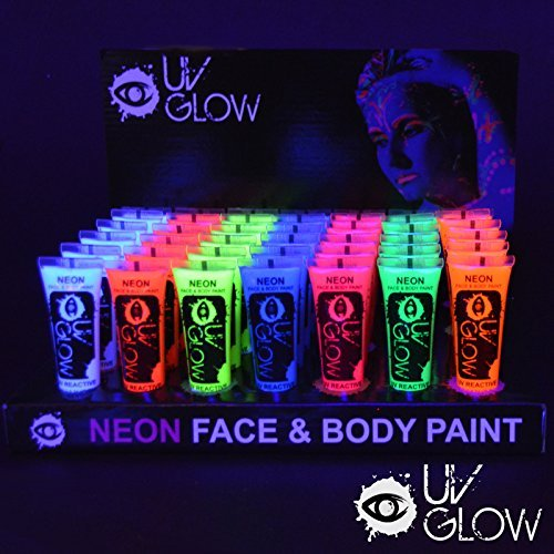 UV Glow Neon Face and Body Paint - 10ml Wholesale Case of 96 - Fluorescent by UV Glow by UV Glow (Image #1)