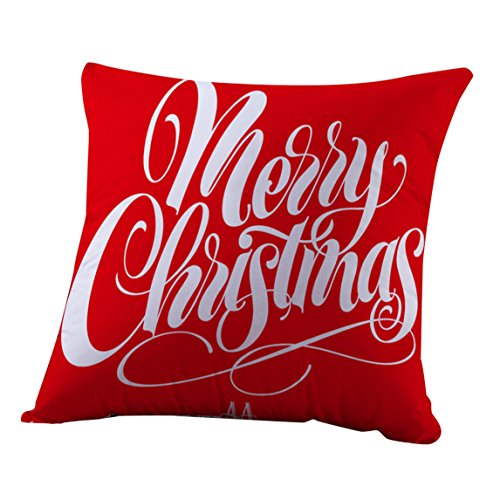 Nation Pillow Case Clearance ♥ Xmas Christmas Sofa Bed Home Decoration Festival Cushion Cover (Cafe Cardigan)