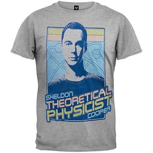 Big Bang Theory - Mens Theoretical Physicist Soft T-shirt Large Grey