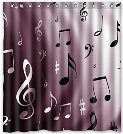 Amazon 66w X 72h Musical Note Theme Print 100 Polyester