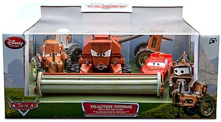 Disney / Pixar CARS Movie Exclusive 6-Piece 1:48 Scale Die Cast Set Tractor Tipping [Includes Frank the Combine!] by Disney