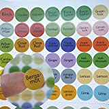 Essential Oil Bottle Cap Labels 576 Cap Stickers Blends + Blanks For ml Roller Bottles, Aromatherapy Set, Organizer Storage Case, Wooden Box-Perfect Lid Stickers to Keep Your Oils Organized
